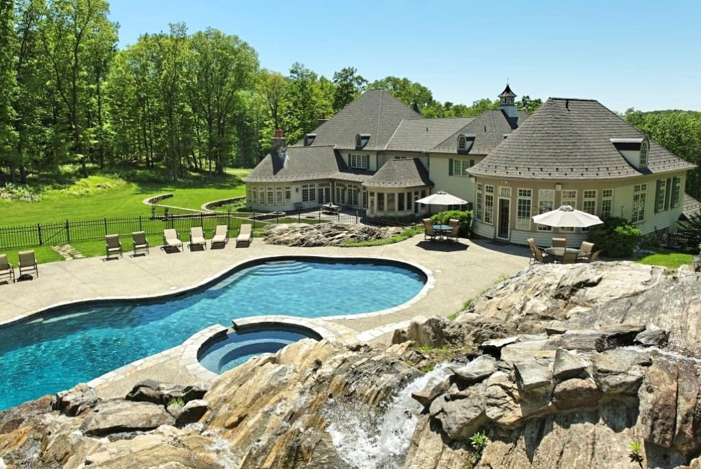 French Country home with pool house in Westchester County NY
