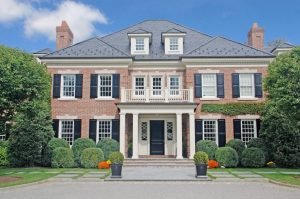 Georgian Colonial Home Design by DeMotte Architects