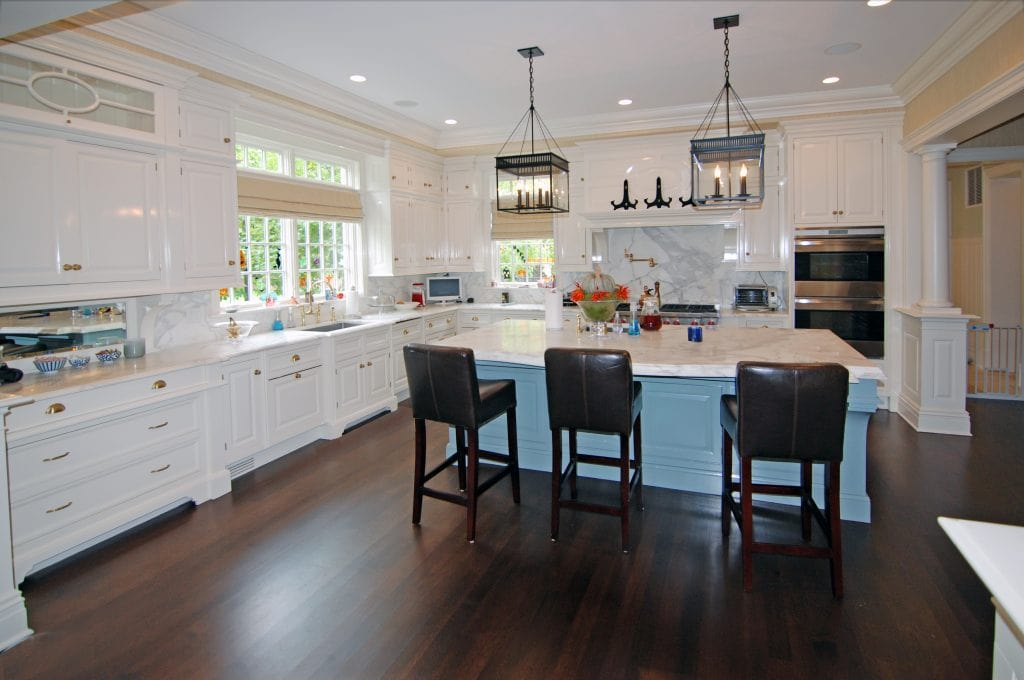 Georgian Colonial home kitchen in Greenwich CT