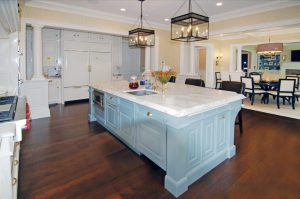Georgian Colonial home with classic kitchen in Greenwich CT