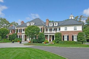 Greenwich CT Georgian Colonial home design by DeMotte Architects
