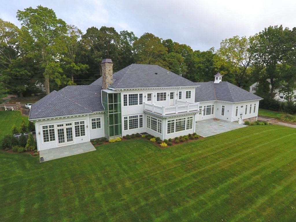 Greenwich CT home with elevator and lots of natural light