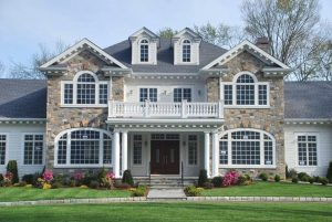 Greenwich CT traditional home design by DeMotte Architects