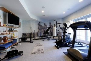 Home gym in Westchester County NY home