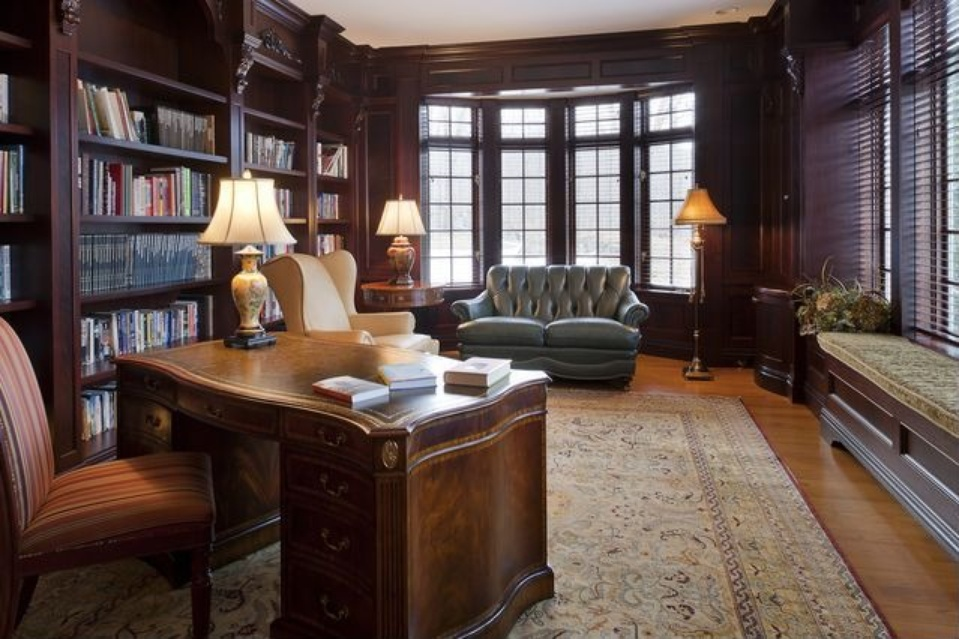 french country home library katonah ny