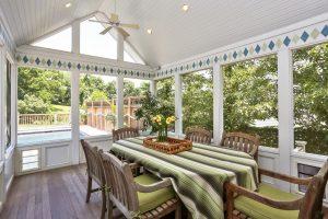 rye ny home screened porch