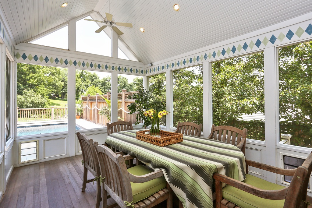 rye ny home screened porch