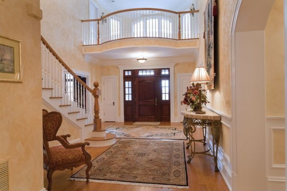 french country home foyer kantonah ny
