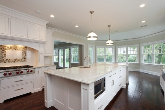 Kitchen in rye ny shingle home