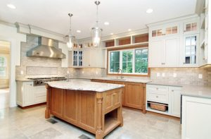 light in kitchen in rye ny home by demotte architects