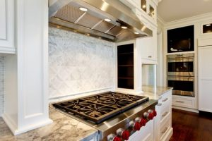 kitchen stove in rye ny home