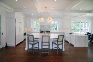 Kitchen in Westport CT home by DeMotte Architects