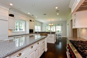 Kitchen in custom Colonial in Rye NY