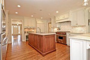 Kitchen in home after split level addition remodel