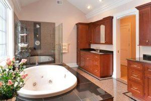 Master bathroom in custom home