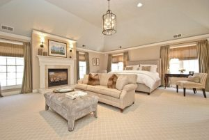 Master bedroom in Rye NY home after addition remodel