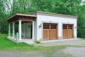 Mediterranean style home design garage by DeMotte Architects