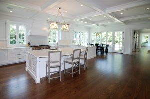 Open floor plan in Colonial home in Westport CT