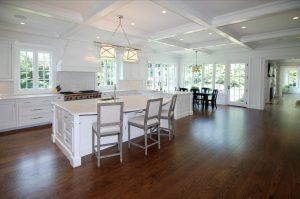 Open floor plan in Colonial home in Westport CT