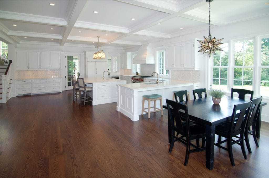 Open kitchen in Grand Colonial home design