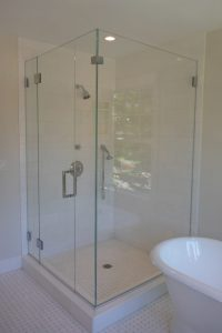 bathroom in shingle style home in rye ny by demotte architects