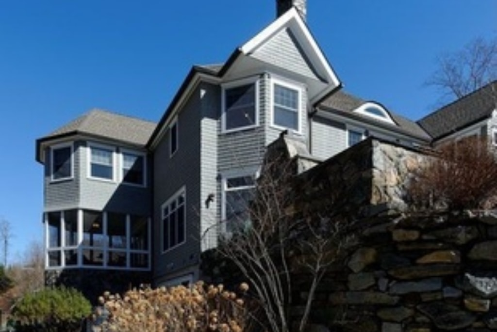 Purchase NY shingle style home by DeMotte Architects