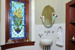 Queen Anne Victorian bathroom in Greenwich CT