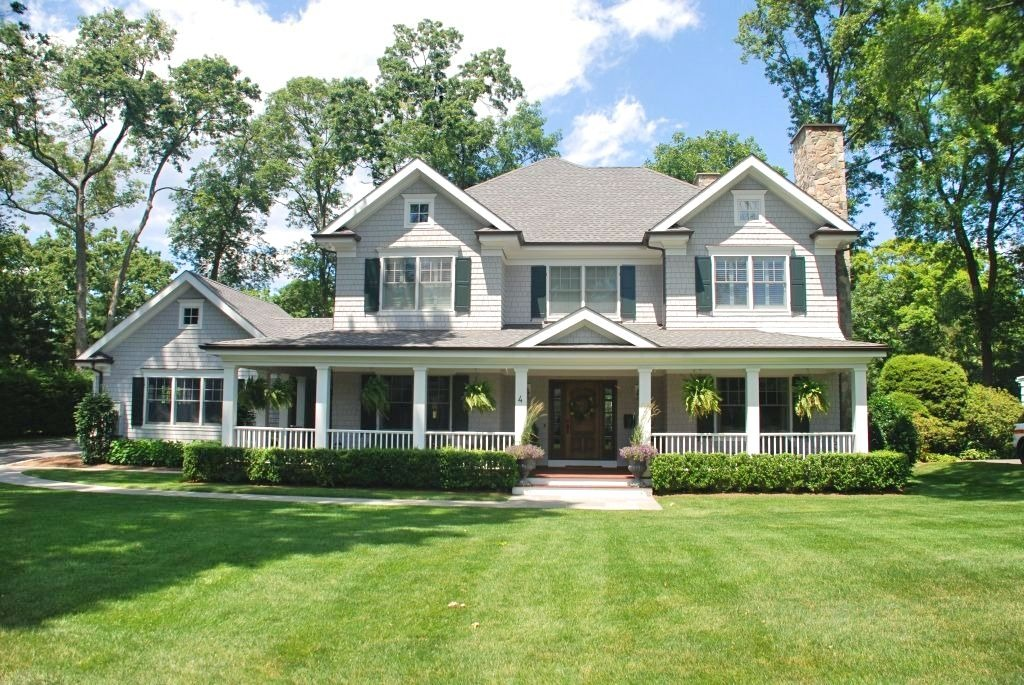 Rye NY Colonial home design by DeMotte Architects for developer
