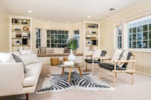 Rye NY addition by DeMotte Architects living room shown