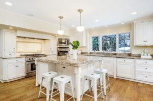 Rye NY addition remodel kitchen shown