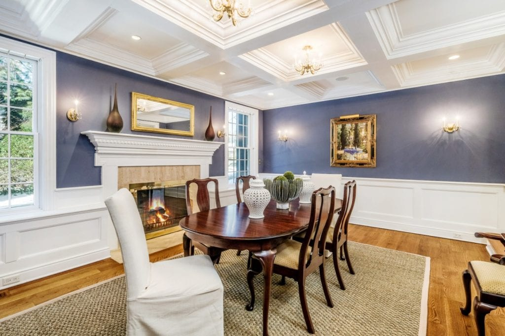 Rye NY home addition remodel dining room shown