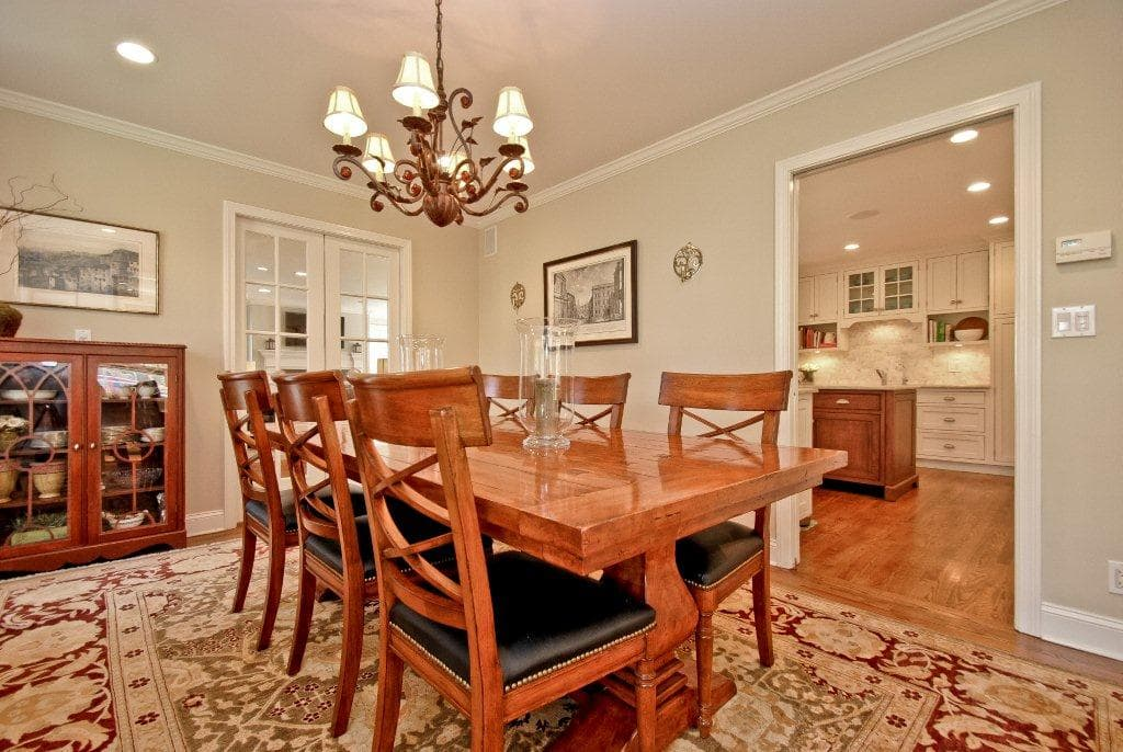 Rye NY home after remodel dining area