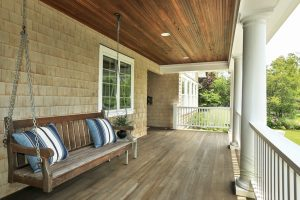 Rye NY home design front porch by DeMotte Architects