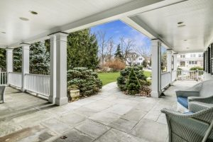 Rye NY home front porch after remodel addition