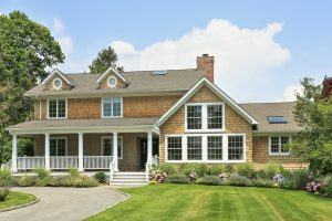 Rye NY home remodel by DeMotte Architects front elevation