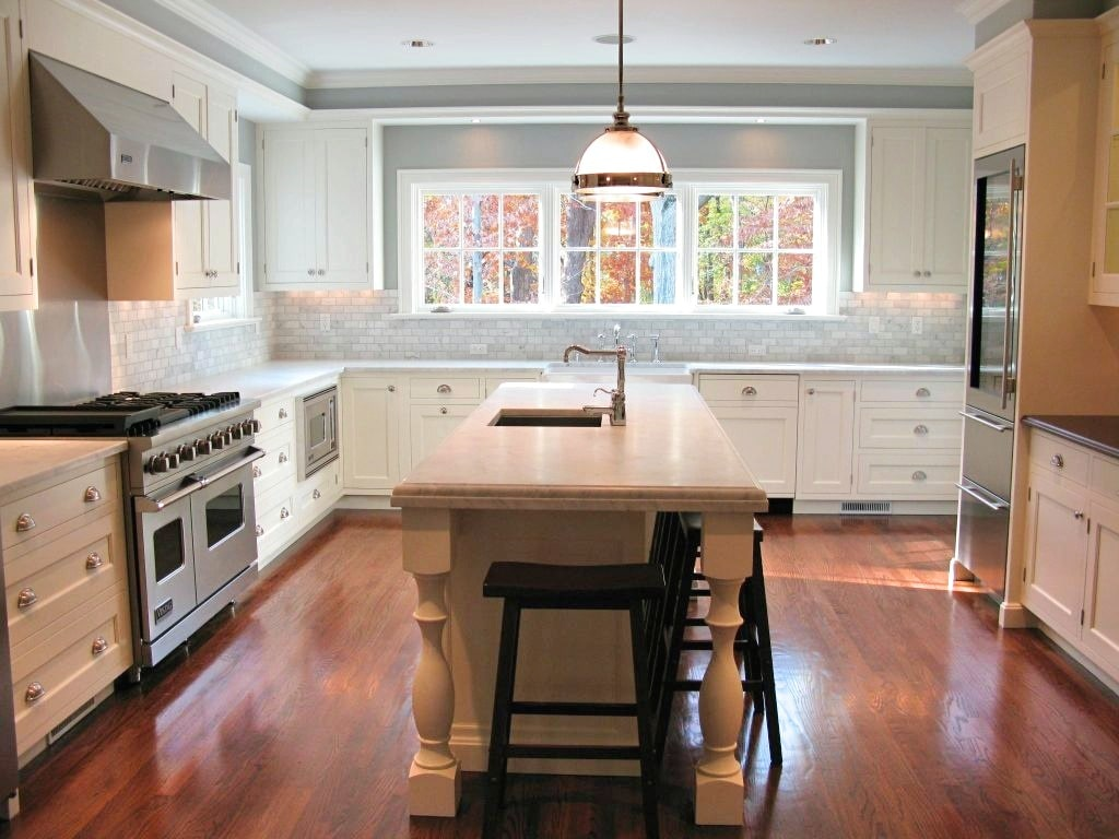 Rye NY kitchen after remodel by DeMotte Architects