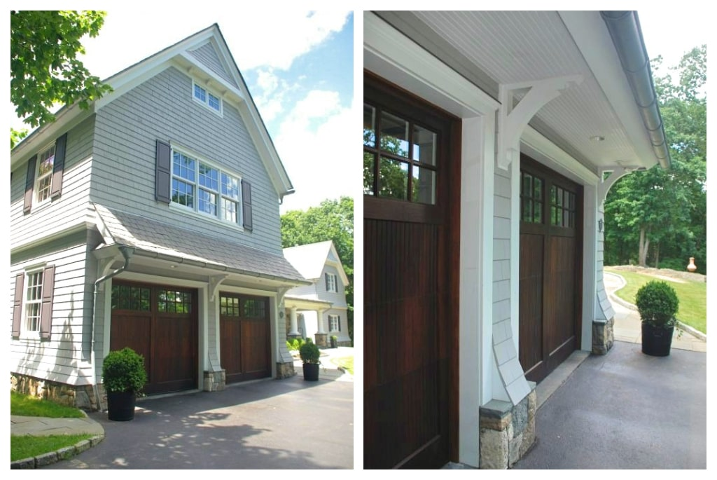 Rye NY shingle style home garage