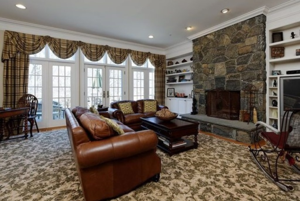 Shingle style home in Westchester County NY family room