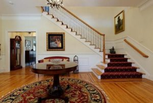 Shingle style home in Westchester County NY foyer