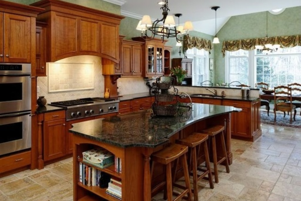 Shingle style home kitchen in Westchester County NY