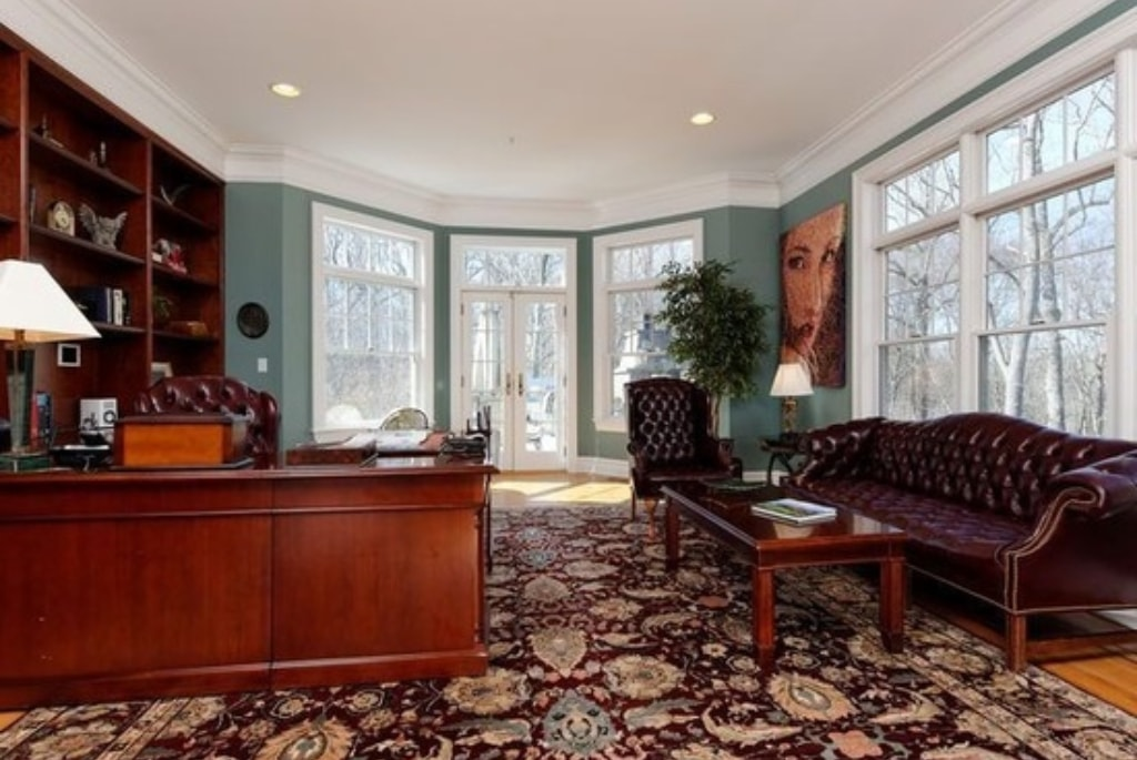 Shingle style home with office in Westchester County NY