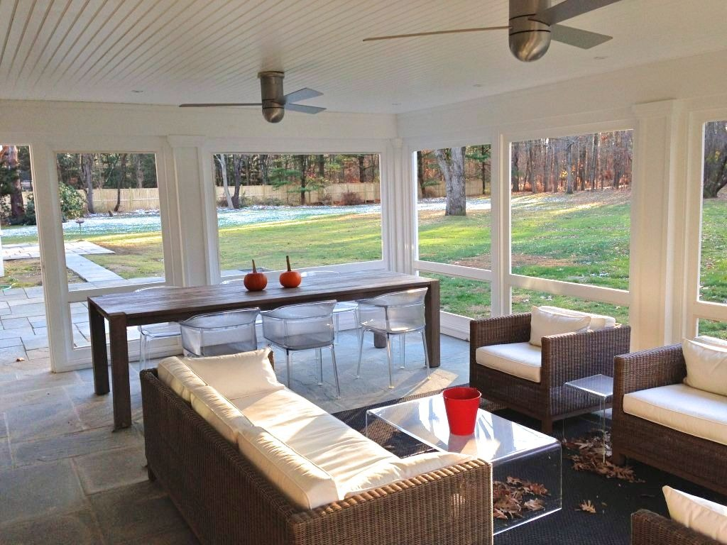 South Salem NY screened porch addition by DeMotte Architects