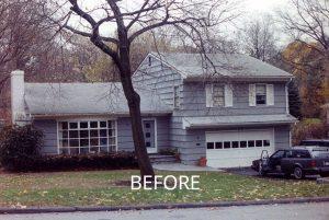 Split level home before remodel in NY