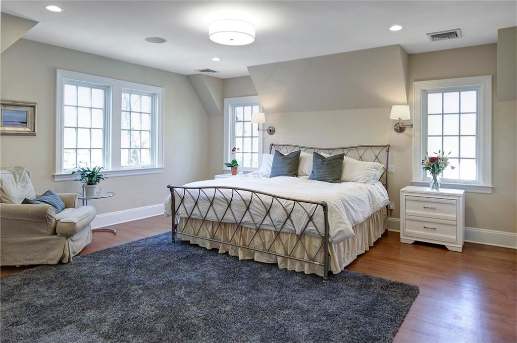 Tudor home addition in Rye NY bedroom shown