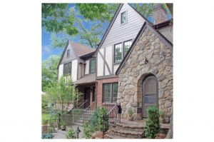 Tudor home addition in Rye NY by DeMotte Architects exterior shown