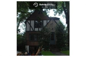 Tudor home in NY before remodel
