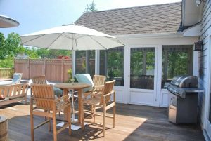 Westchester County NY home design with screened porch and deck