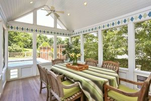 Westchester County NY home remodel by DeMotte Architects screened porch