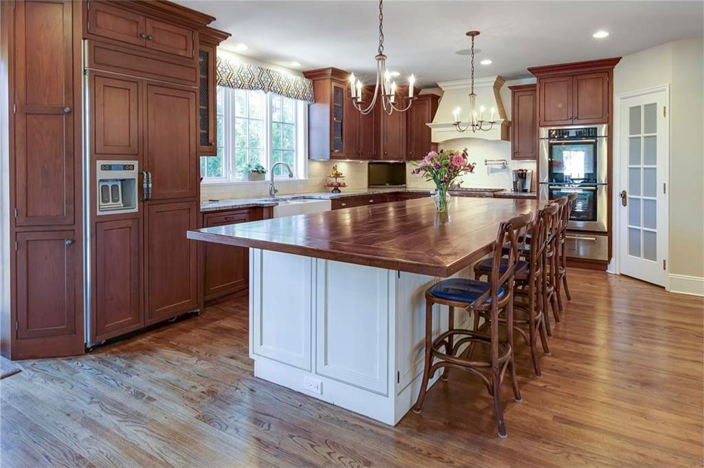 Westchester County NY tudor home addition kitchen shown