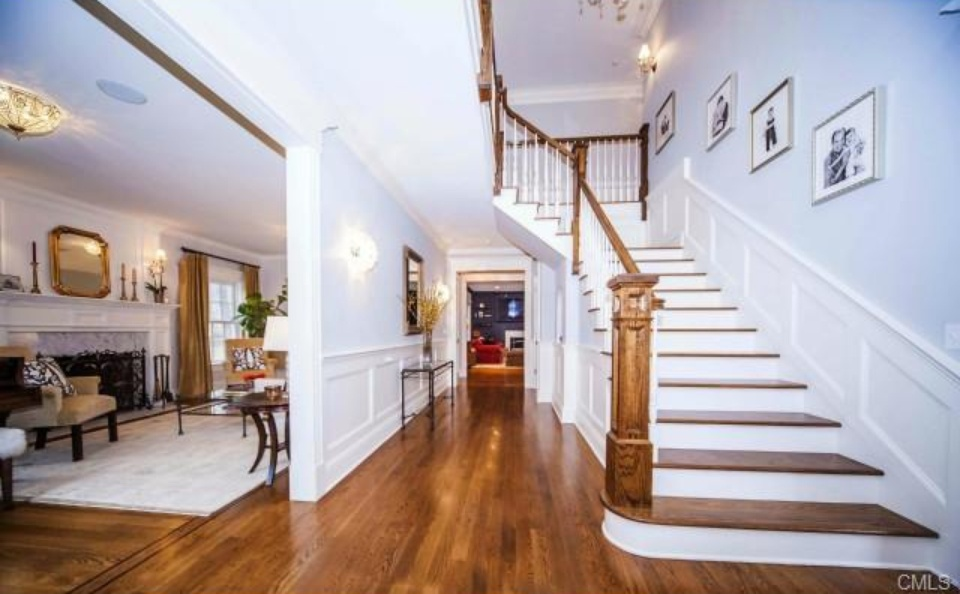 foyer in new canaan ct home